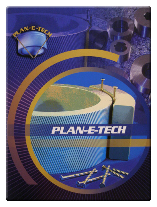Plan-e-tech Industries Inc. Planetech is a manufacturer of new planetary nail thread rolling dies and reworking worn dies as well as cylidrical thread rolling dies Company Log